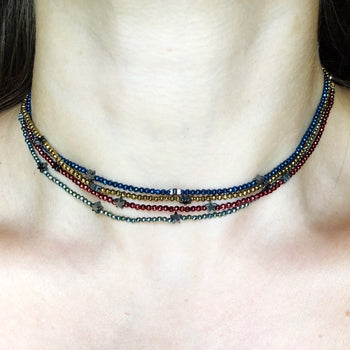 Beaded Star Choker