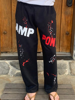 Camp Straight Bottom Paint Splatter Sweats w/Pockets