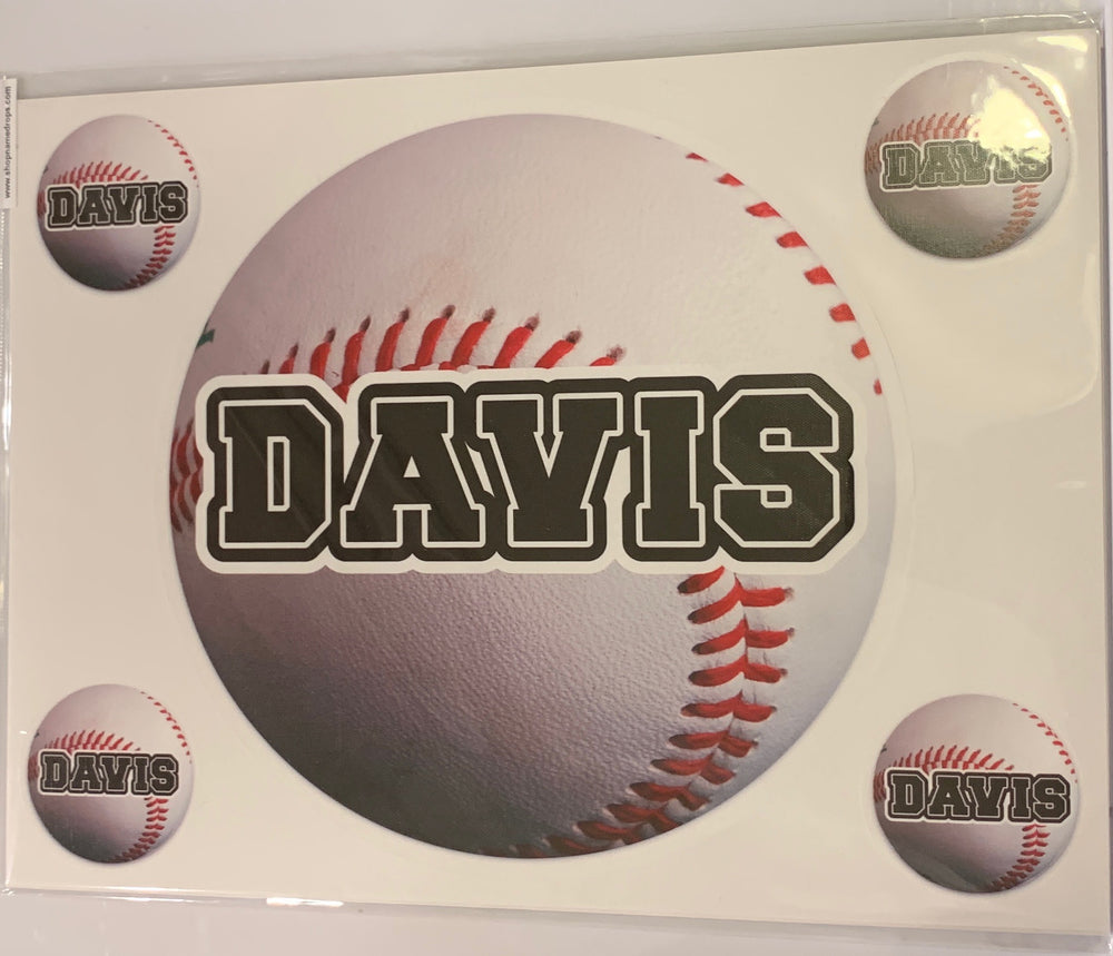 Sample Sale - Davis - Baseball Name Decal
