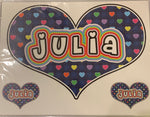 Sample Sale - Julia - Oversized Heart Decal