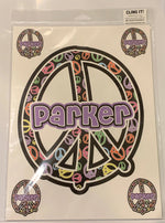 Sample Sale - Parker - Large Peace Decal Sheet