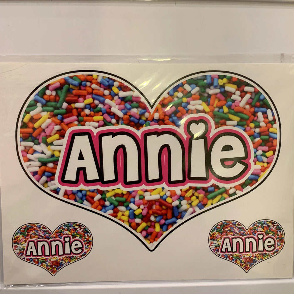 Sample Sale - Annie - Oversized Heart Decal