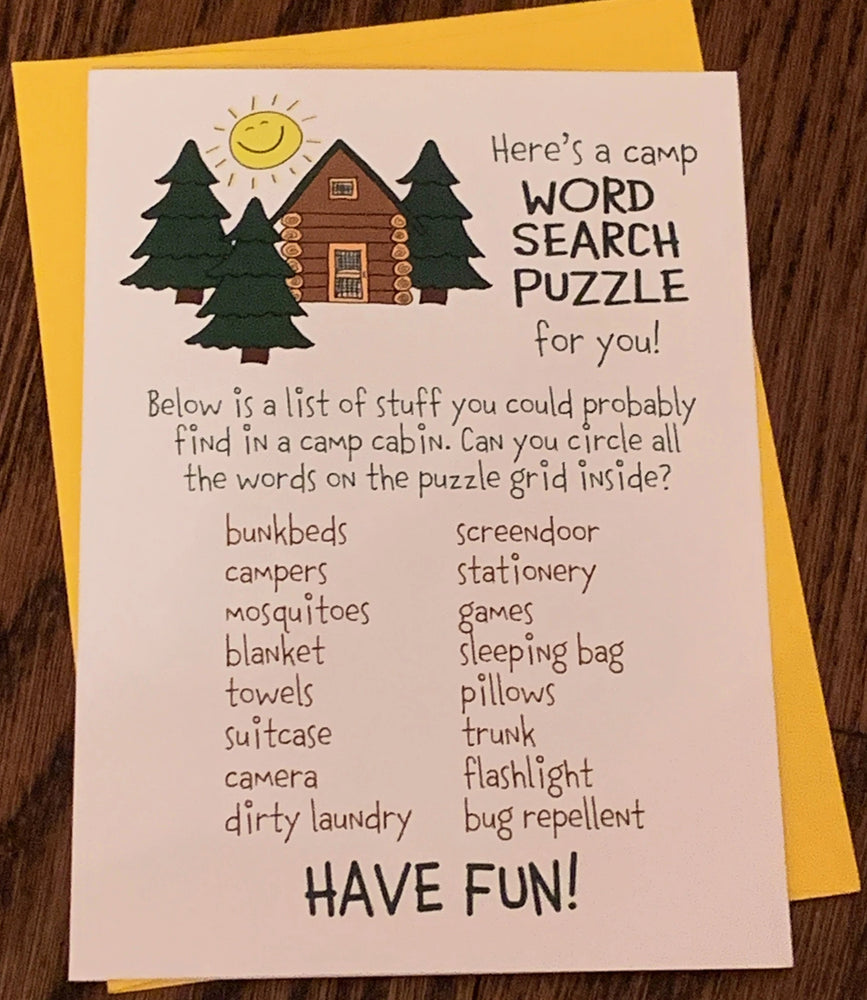 Card from Home - Word Search