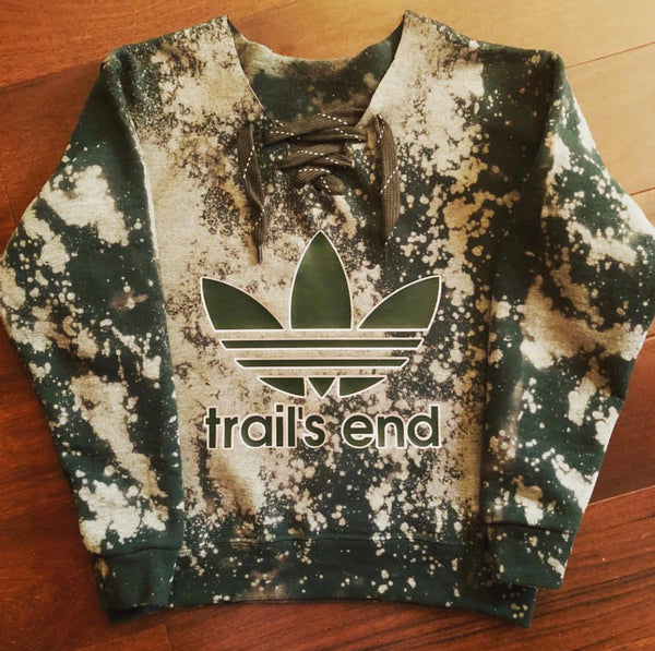 Bleached Adidas Lace-Up Sweatshirt