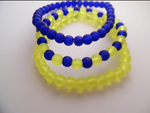 Frosted Glass Bead Bracelets