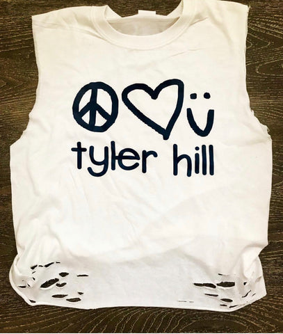 Peace Heart Smiley Tank