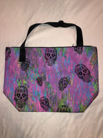 Sample Sale - Penelope Wildberry - Rainbow Skulls Canvas Tote