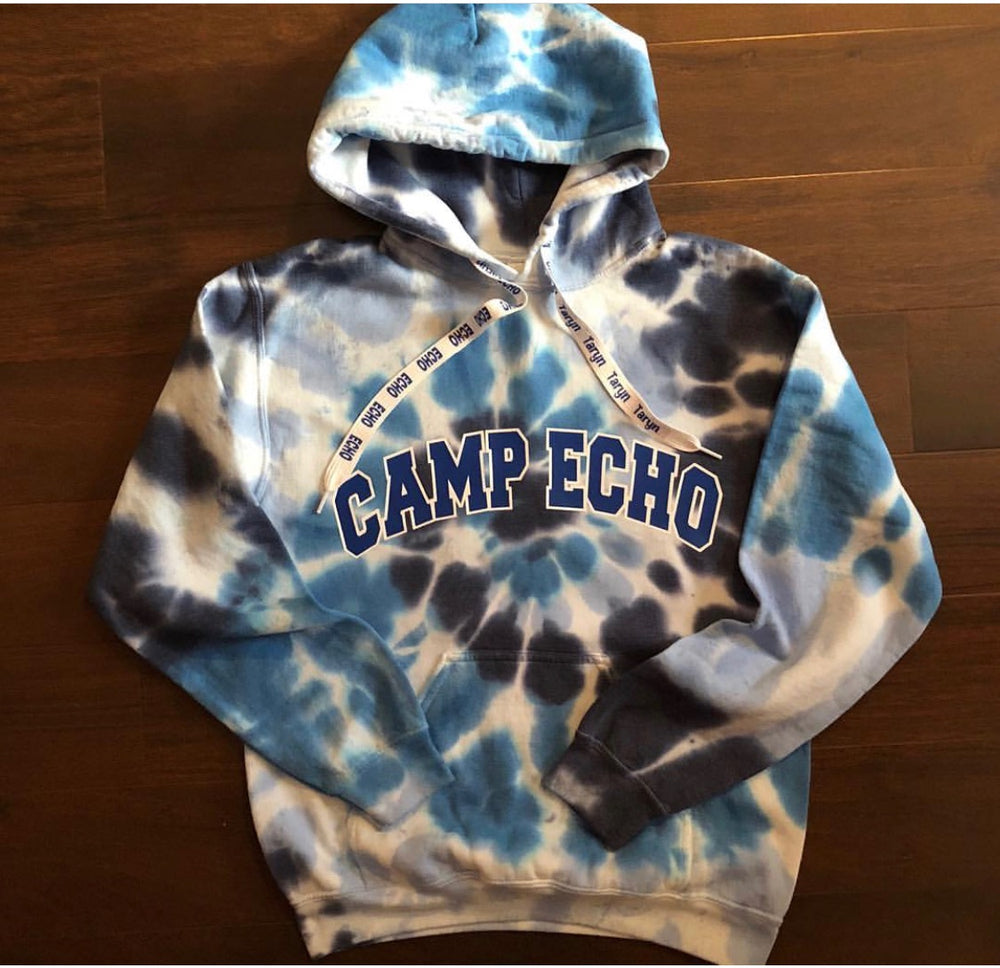 Tie Dye Camp Sweatshirt with Laces