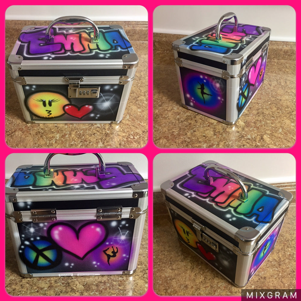 Airbrushed Lock Box