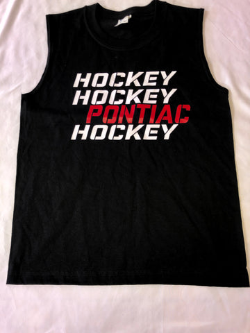 Sample Sale - Pontiac- Camp Name Hockey Muscle Tee