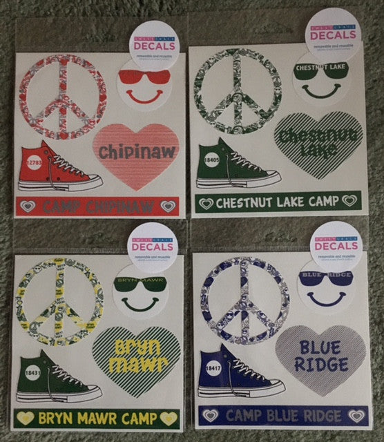 "Small Camp Decal Sheet - ""Peace Sign"""