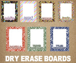 Namedrops Laminated Dry Erase Board - Choose your Pattern