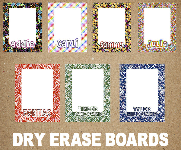 Namedrops Dry Erase Board - Choose your Pattern