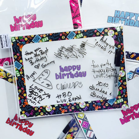 Autograph Clings - Happy Birthday