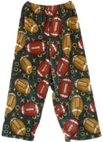Fuzzy Pajama Pants - Football