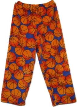 Fuzzy Pajama Pants - Basketball