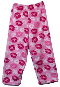 Fuzzy Pajama Pants - XOXO Lips