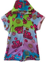 "Fuzzy Pajama Shorts/Short Sleeves Onesie - I ""heart"" Camp"