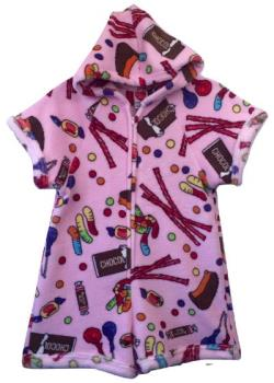 Fuzzy Pajama Shorts/Short Sleeves Onesie - Mixed Candy