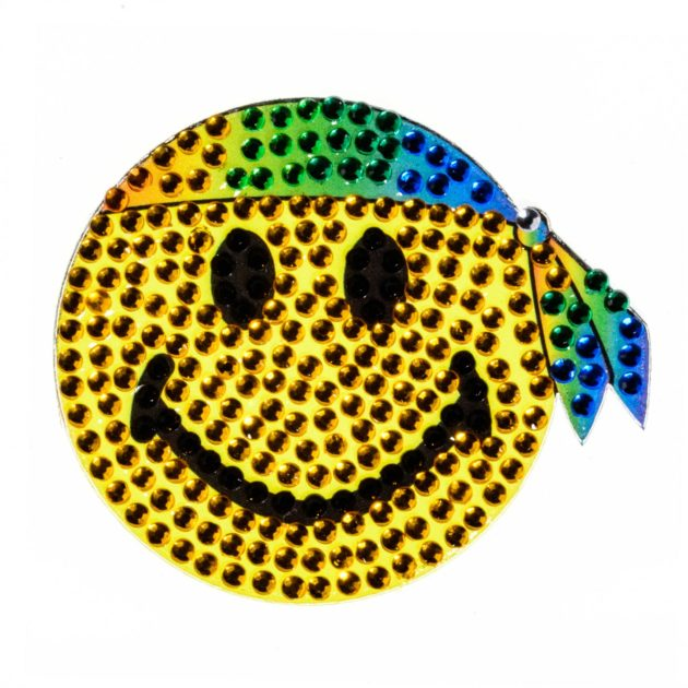 "Hippie Smiley- 2"" StickerBeans Sticker"