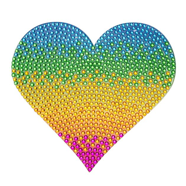 "Rainbow Heart - 5"" StickerBeans Wall Sticker"