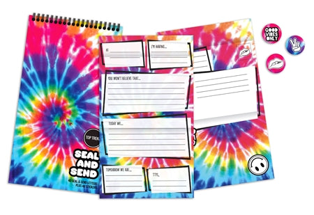 Tie Dye Seal & Send Stationery