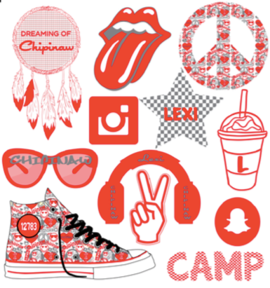 "Large Camp Decal Sheet - ""Lips"""