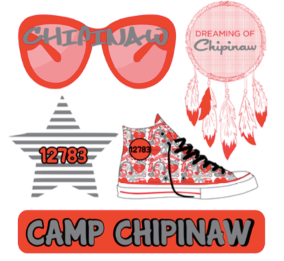 "Small Camp Decal Sheet - ""Sunglasses"""