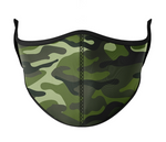 Green Camo Face Mask (Age 3-7)