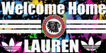 Welcome Home Banner - Adidas