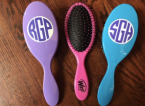 Monogrammed Wet Brush