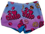 "Fuzzy Pajama Shorts (girls) - I ""heart"" Camp"