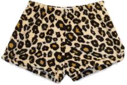 Fuzzy Pajama Shorts (girls) - Leopard
