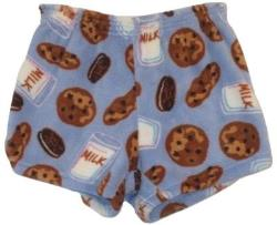Fuzzy Pajama Shorts (girls) - Milk & Cookies Blue