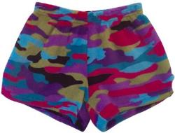 Fuzzy Pajama Shorts (girls) - Multi Camo