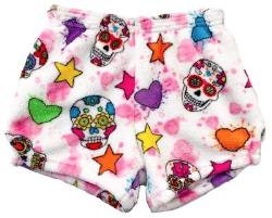 Fuzzy Pajama Shorts (girls) - Party Skulls