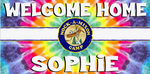 Welcome Home Banner - Tie Dye