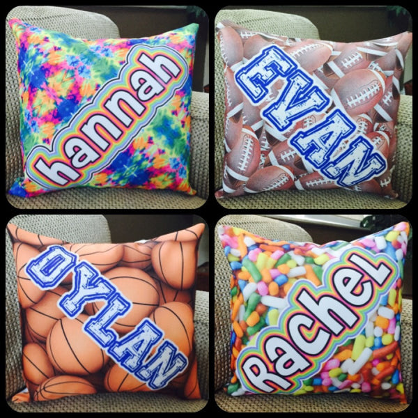 Custom Namedrops Pillows - choose your pattern