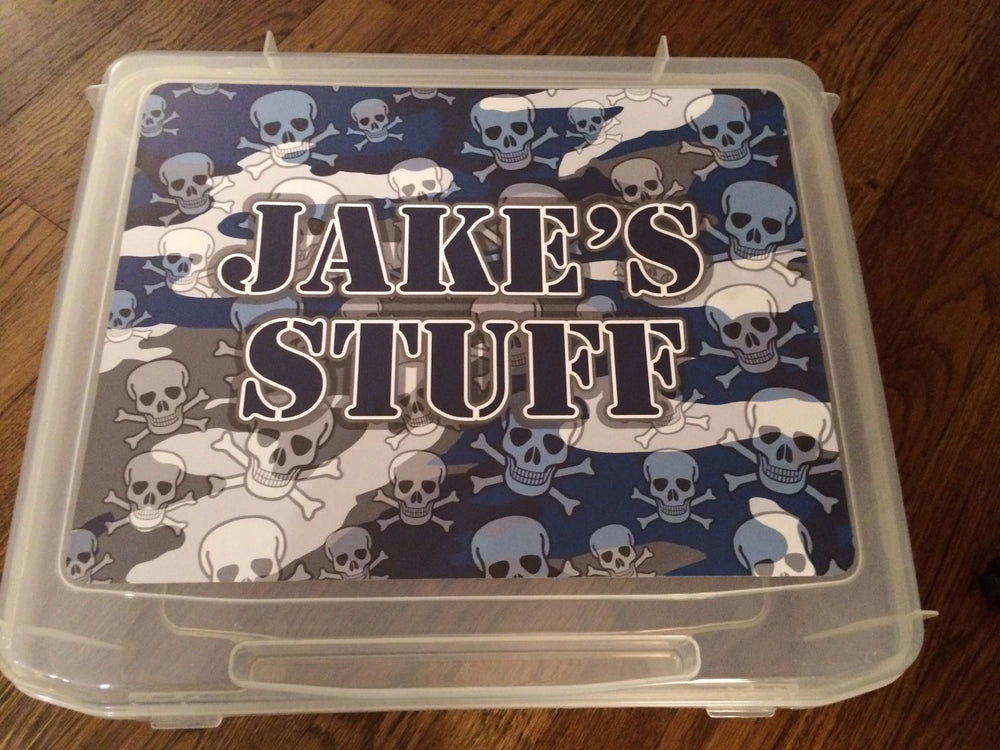 Large Bunk Junk Storage Box - Choose your Namedrops Pattern