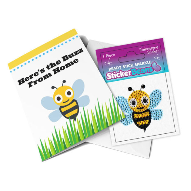 StickerBeans Card - Buzz from Home (bumblebee)