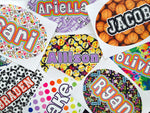 Large Oval Namedrops Name Decal