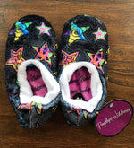 Penelope Wildberry - Fuzzy Slippers - Crazy Star Pattern