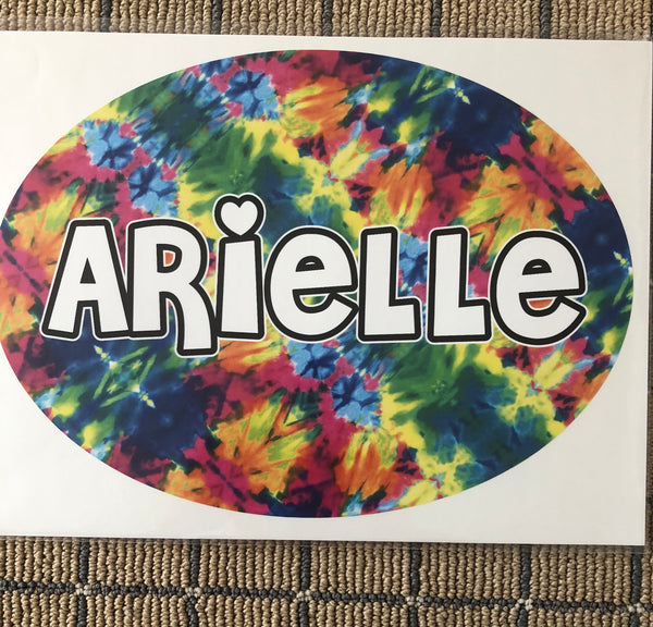 Sample Sale - Arielle - Oval Name Decal