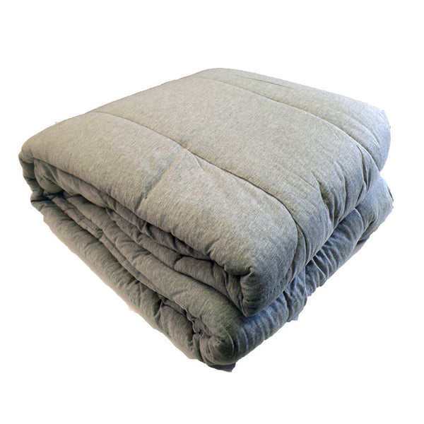 Jersey Knit Camp Comforter - Heather Grey