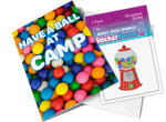 StickerBeans Card - Have a Ball at Camp (Gumball Machine)