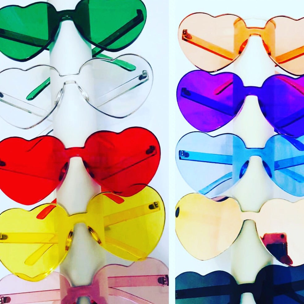 Colored Heart Glasses