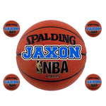 Large Basketball Name Decal Sheet