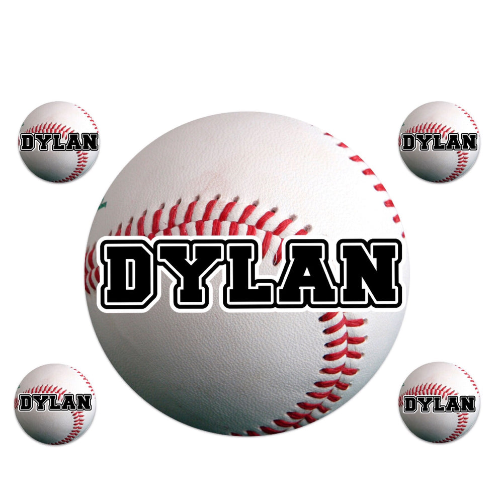 Large Baseball Name Decal Sheet