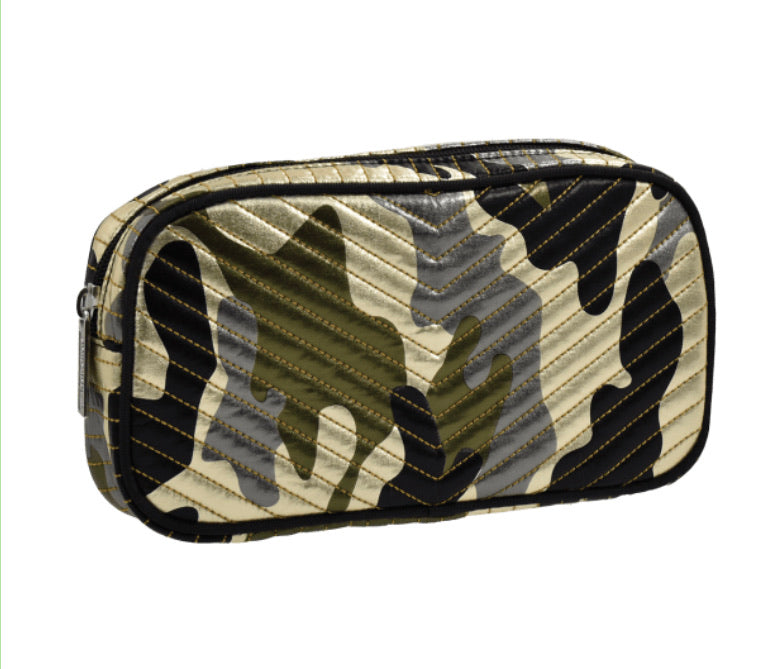 Metallic Camo Small Cosmetic Bag