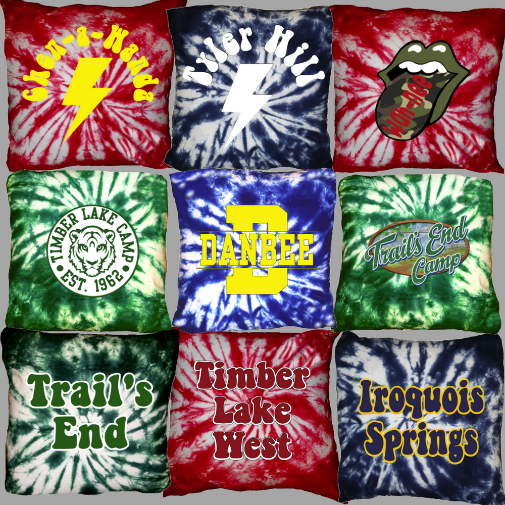 Tie Dye Camp Pillow